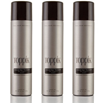 3 x TOPPIK Colored Hair Thickener